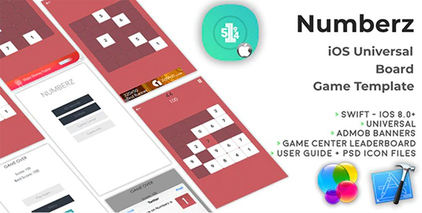 Numberz -iOS Universal Board Game Template (Swift)