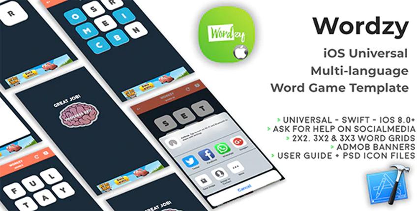 Wordzy - iOS Universal Xcode Game Template