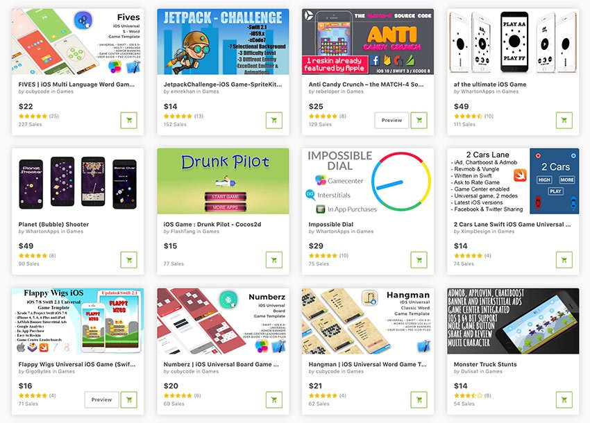 Buy the best iPhone game templates from CodeCanyon.