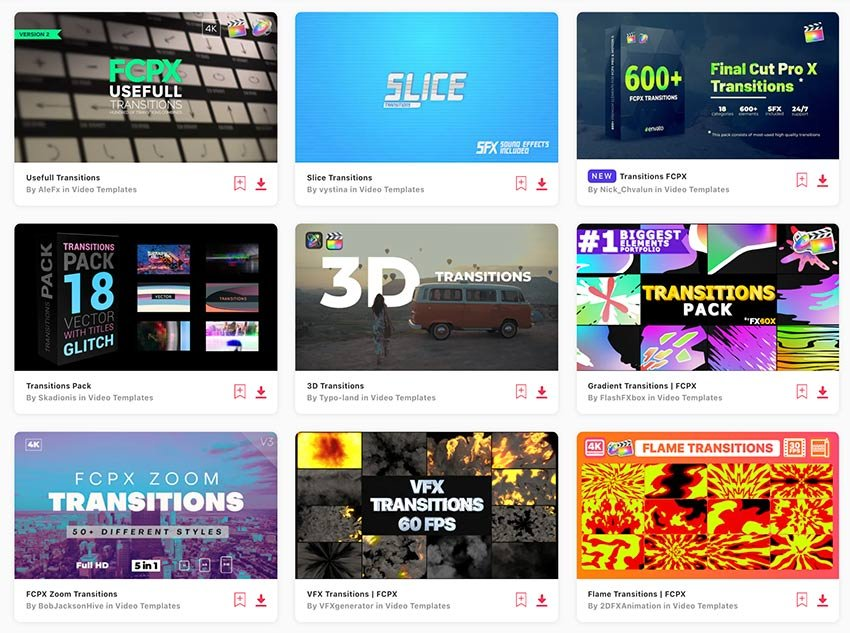 Enjoy unlimited Final Cut transitions downloads with a subscription to Envato Elements.