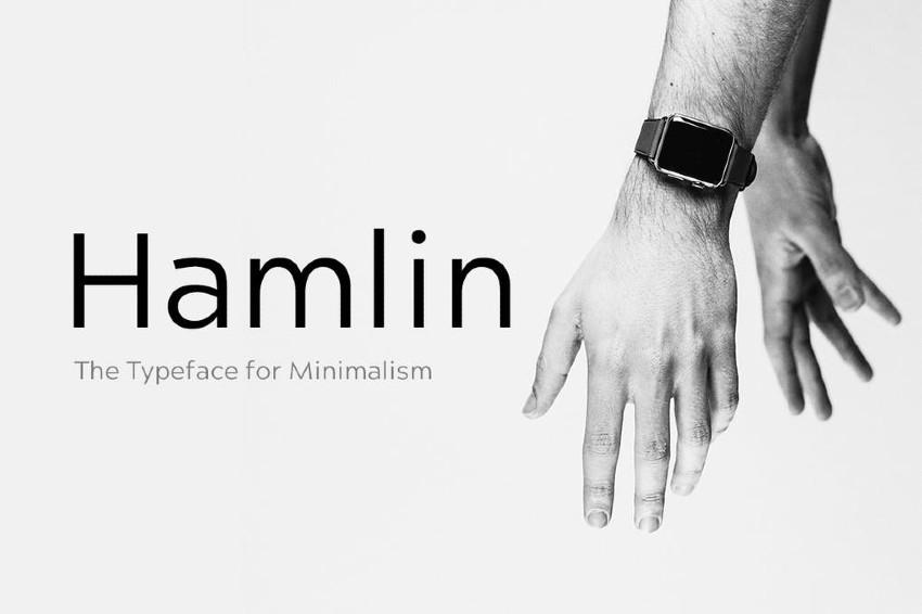 HAMLIN - Minimal Geometric Typeface  Web Fonts