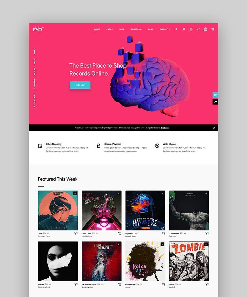Vonzot - Music Coriented WooCommerce Theme