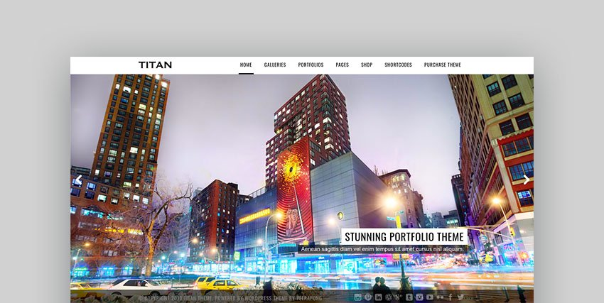 Titan WordPress Photography Theme