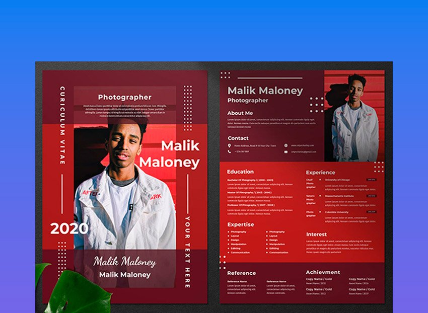Adobe Photoshop resume templates