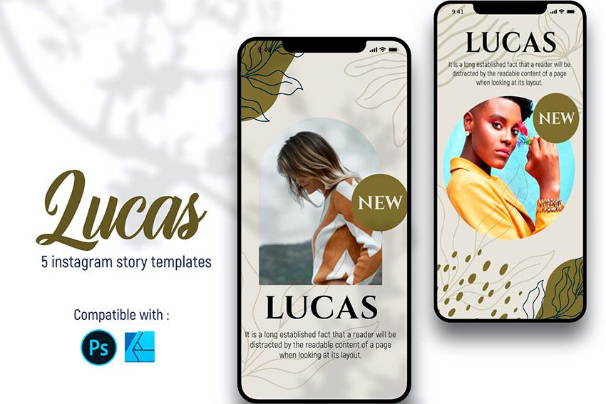 Lucas Instagram Story Templates (PSD, JPG)