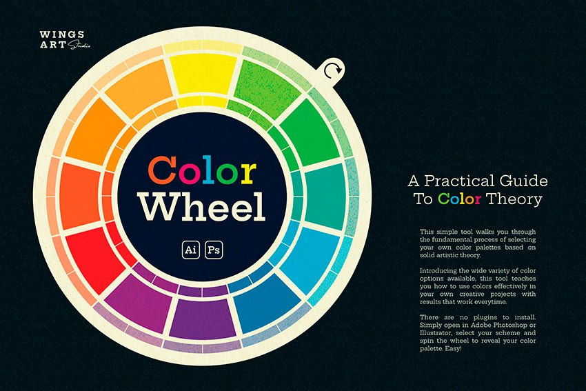 The Wing's Art Color Wheel (AI, EPS, SVG, PSD)