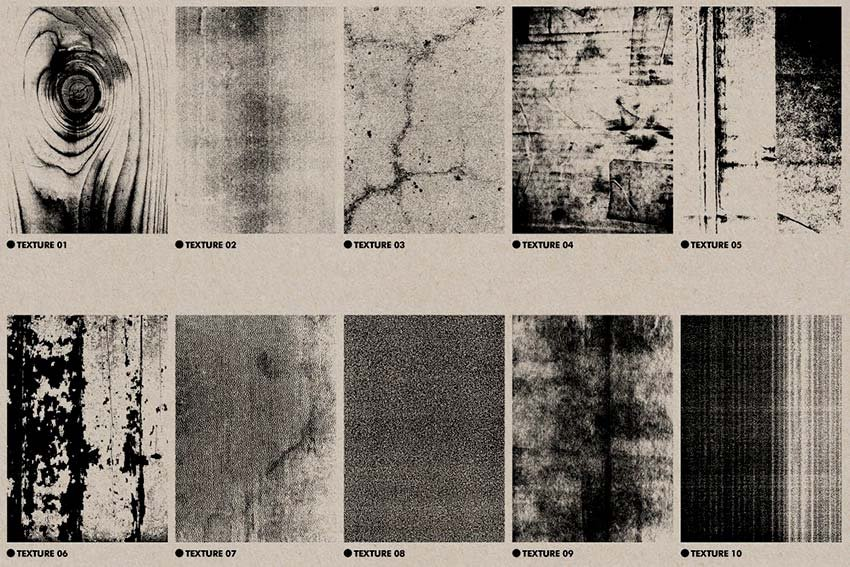 Get this cool distressed texture Illustrator pack from Envato Elements.