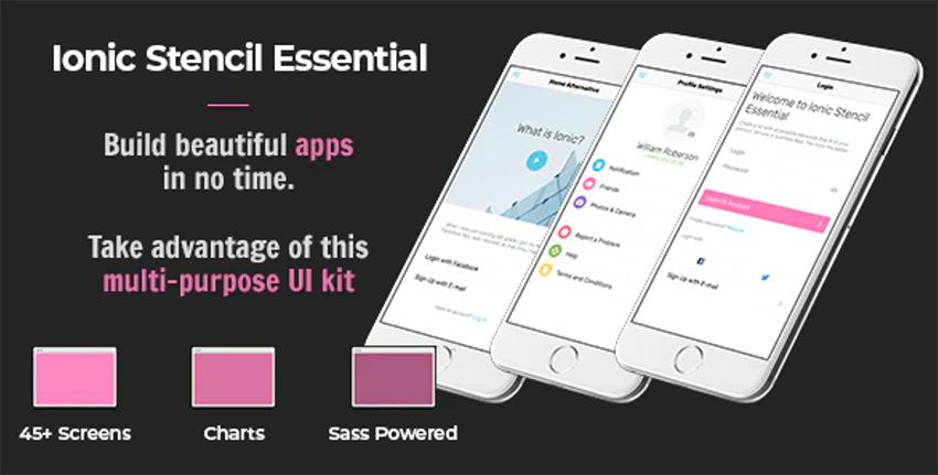 Ionic App Stencil Essential UI Kit