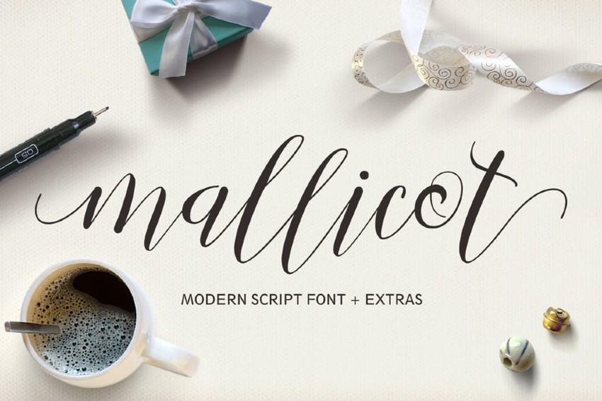 Mallicot Modern Script Font