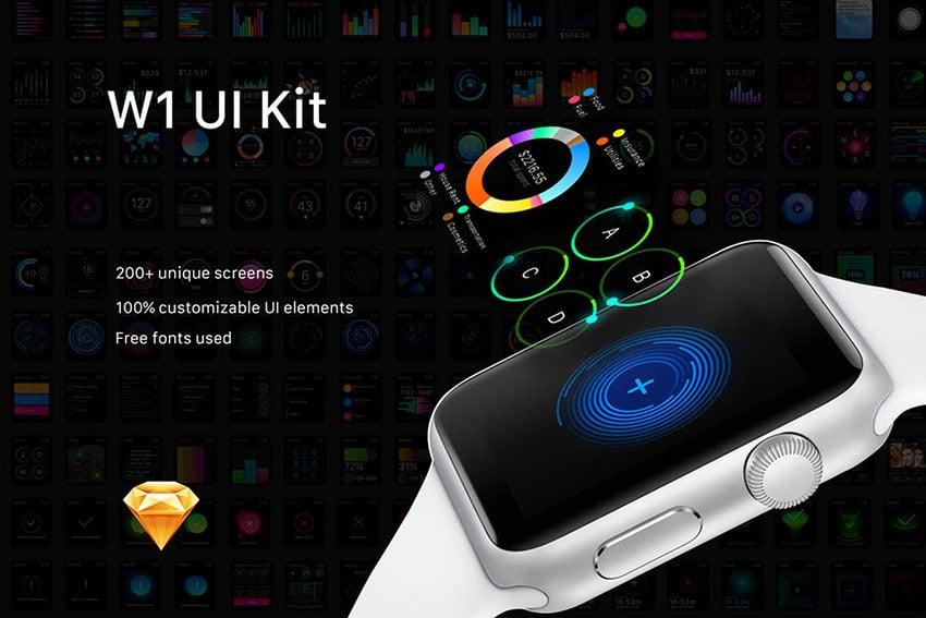 W1, kit de UI para aplicaciones de smartwhatch
