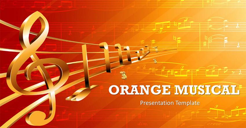 orange PPT Background Music Theme