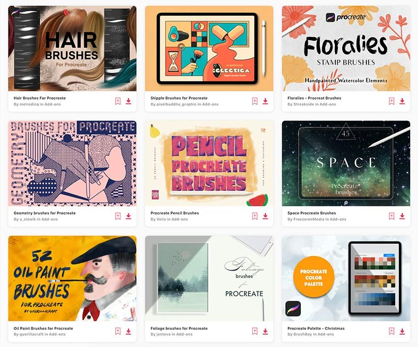 Get unlimited Procreate brushes downloads with an Envato Elements subscription.