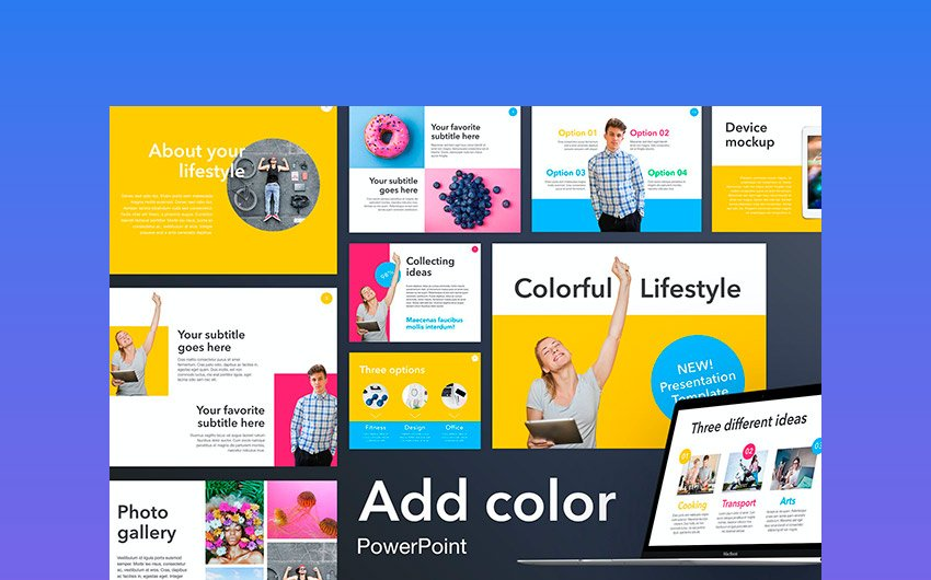 Add Color - Fun PowerPoint Template