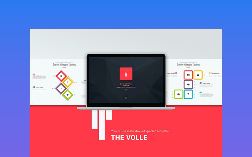 Volle Creative & Colorful PPT Template