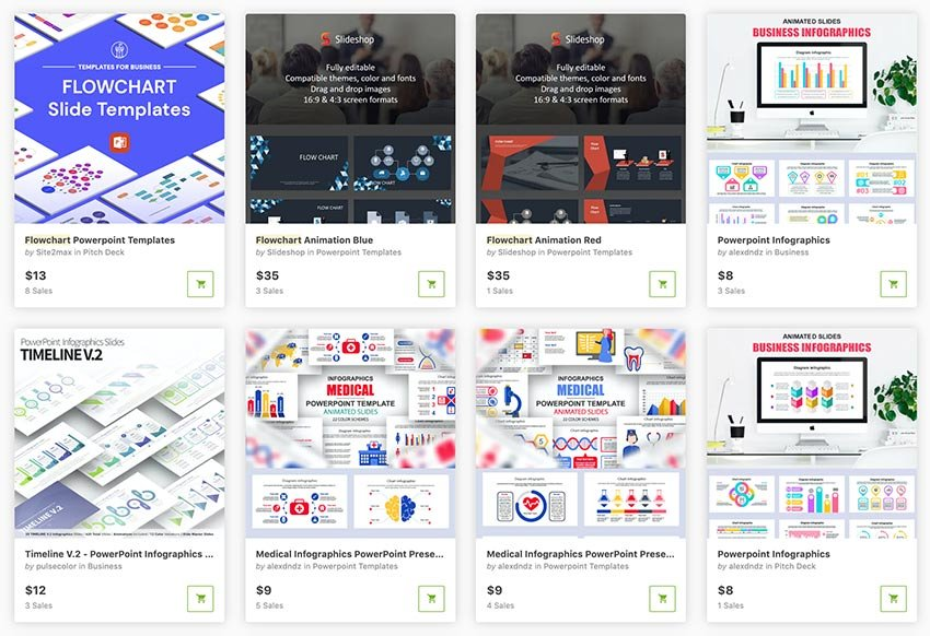 Browse through these flowchart template PowerPoints from GraphicRiver.