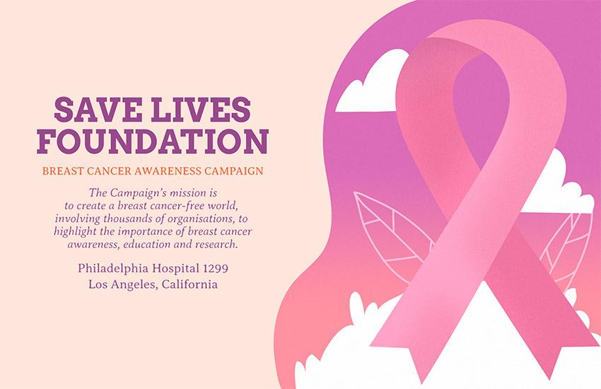 Breast Cancer Fundraiser Flyer
