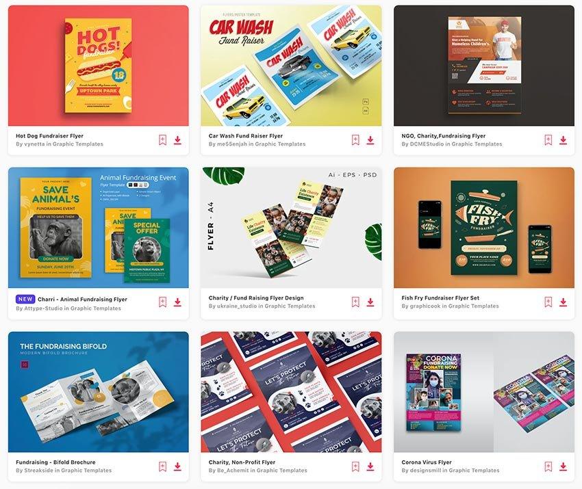 Get unlimited fundraiser flyer downloads with a subscription from Envato Elements.