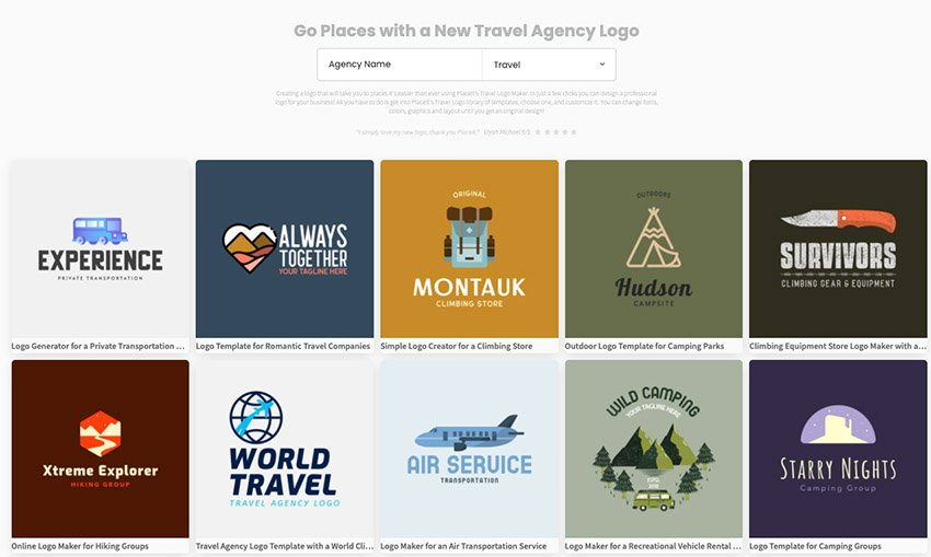 choose from hundreds of amazing travel logos on Placeit