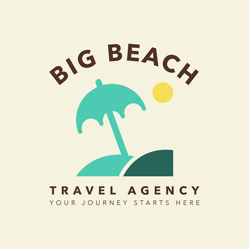 Logo Maker with Beach Icons