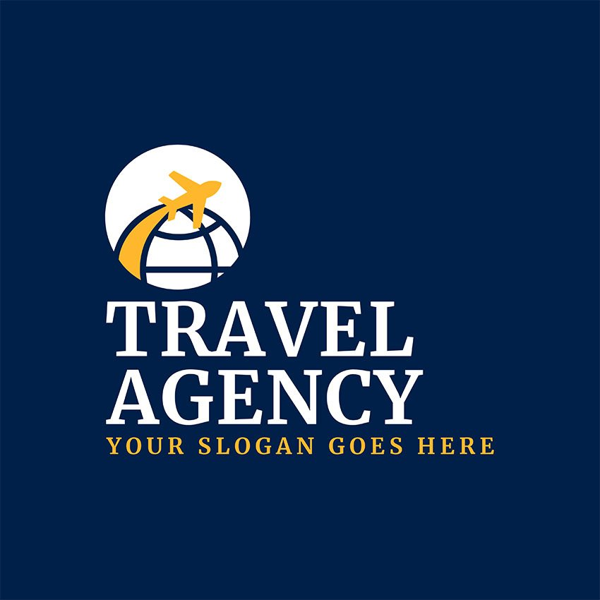 Trip Planner Logo Maker with Airplane