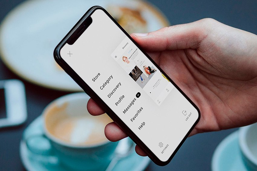 This new and realistic iPhone screen mockup is available in Envato Elements.