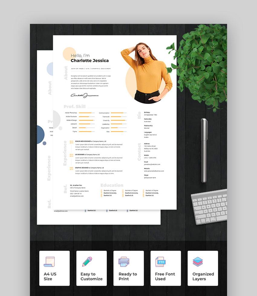 Modern Resume Template 2021
