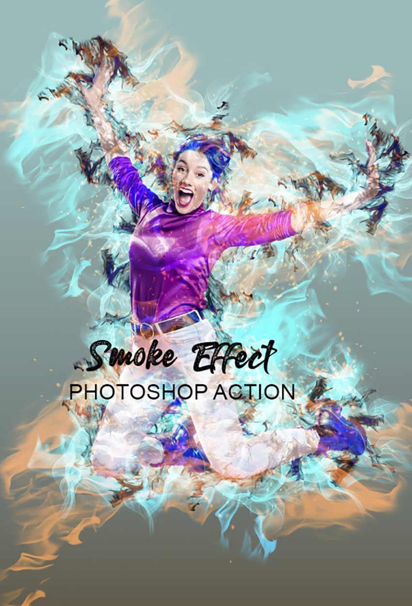 Smoke Effect Photoshop Action