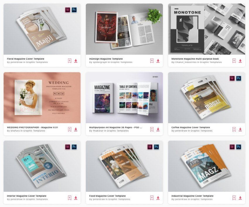 Envato Elements gives you unlimited downloads of the best magazine templates