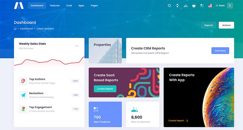 Metronic is one of the most popular Bootstrap admin templates to use in 2021.