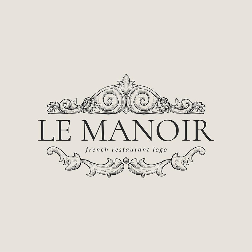 Classic French Cuisine Restaurant Logo