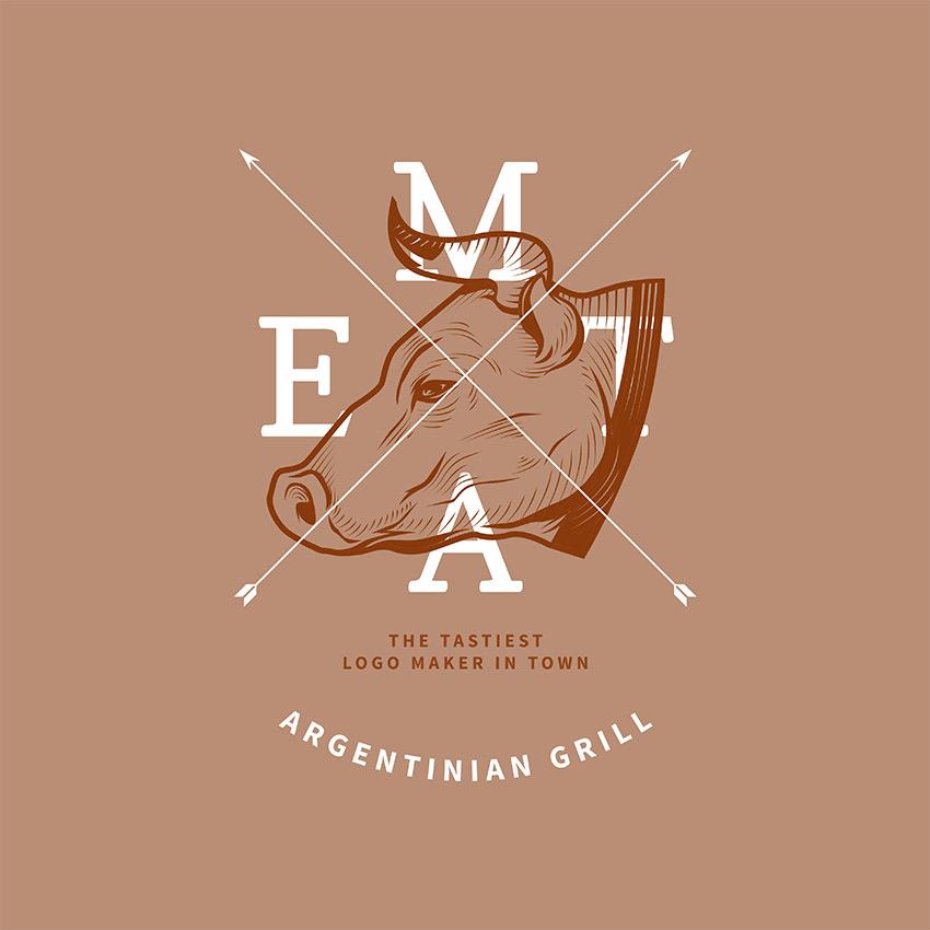 Restaurant Logo Maker For Gaucho Grill Restaurant
