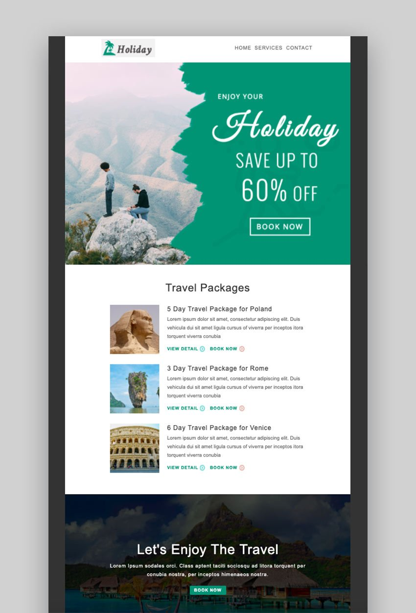 Holiday - Multipurpose Responsive Email Template