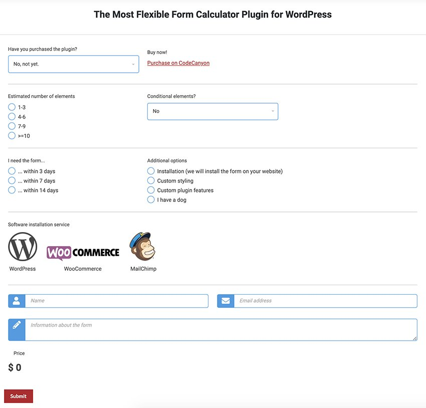 ez Form Calculator - WordPress Form Builder Plugin