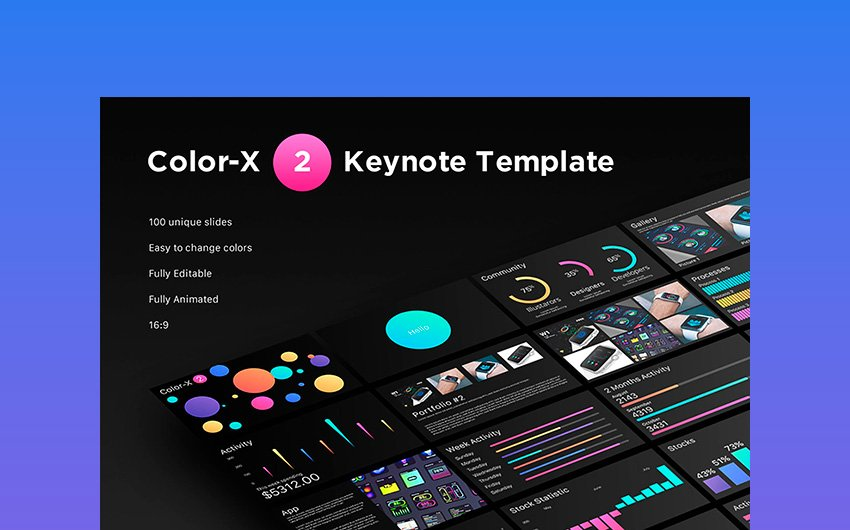 Color-X 2 Keynote Animation Template
