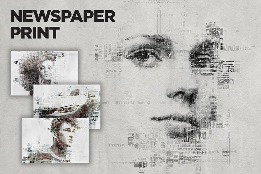 Newspaper Print Photoshop Action