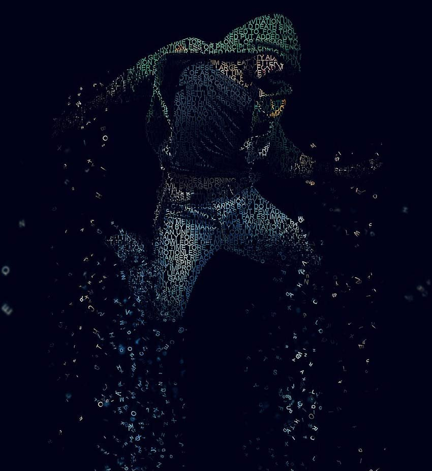 Dispersion Typography Photoshop Action