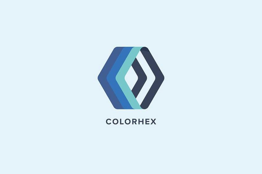 Color Hex Logo Template