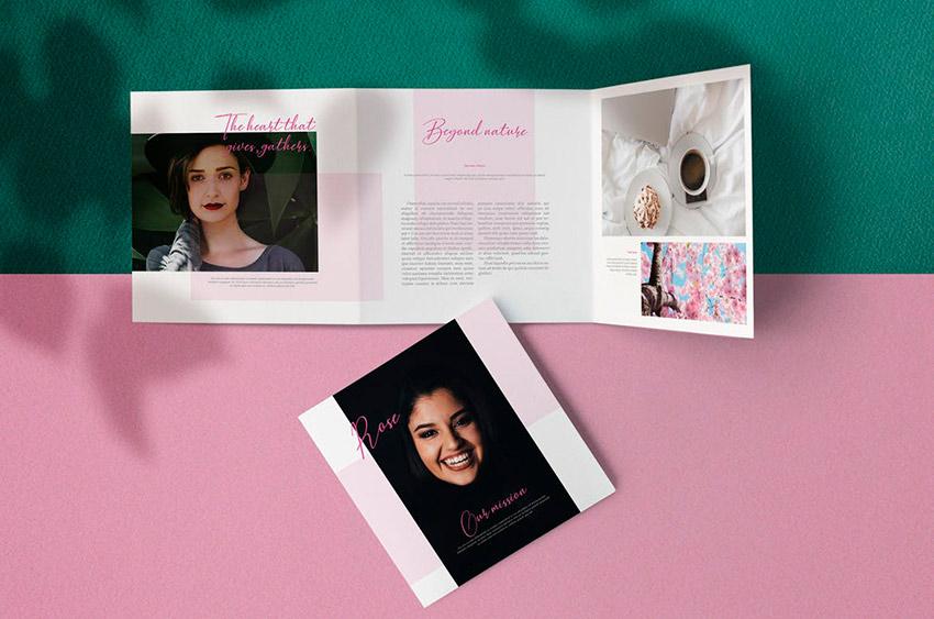 Rose Square Brochure Design (INDD, DOCX)