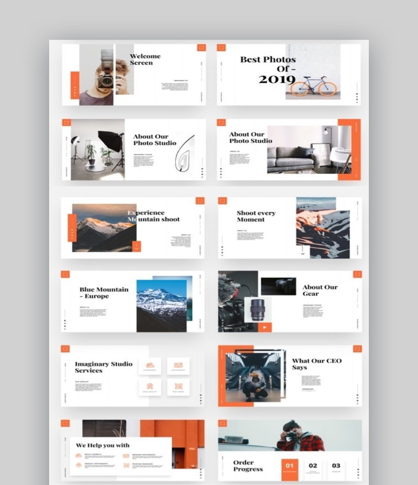 Imaginary photography PowerPoint template