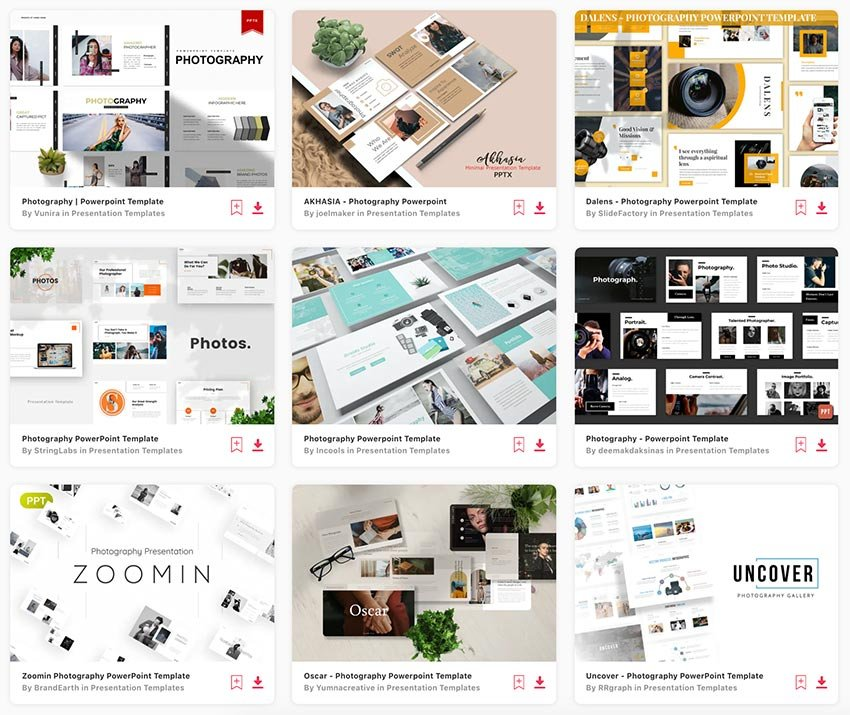 Browse through the hundreds of photography PowerPoint templates available on Envato Elements.