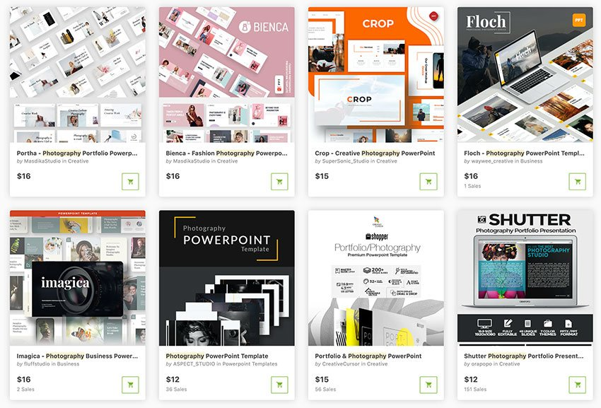 There are hundreds of premium photography PPT templates available on GraphicRiver.