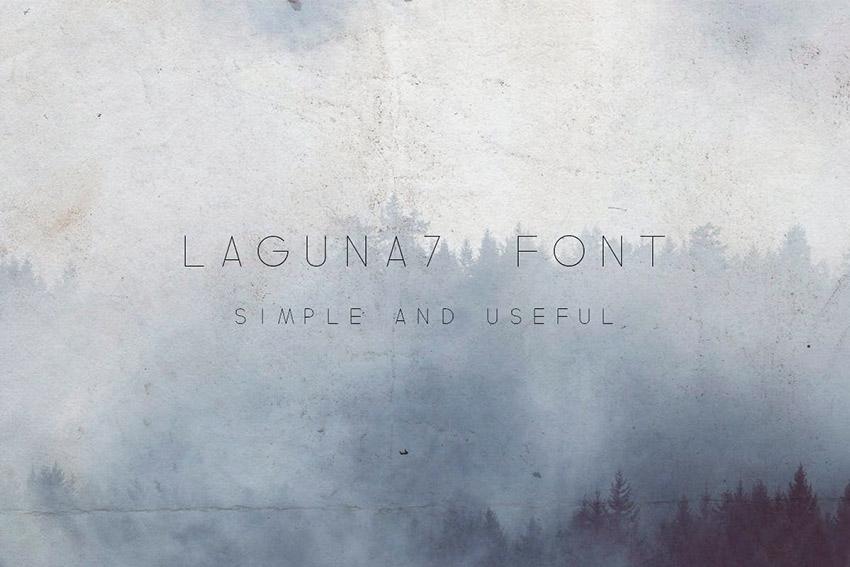 Laguna 7 Font - Small Letter Font