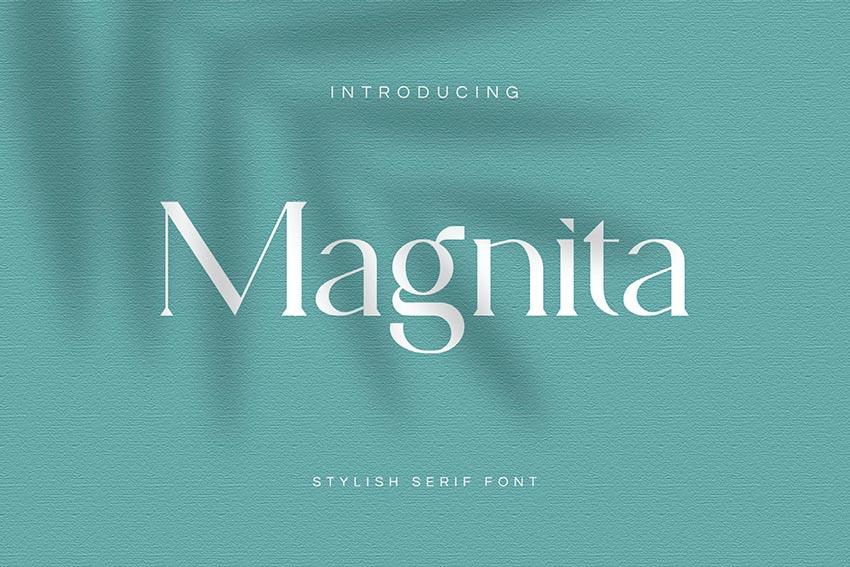 Magnita - Serif Small Letter Font
