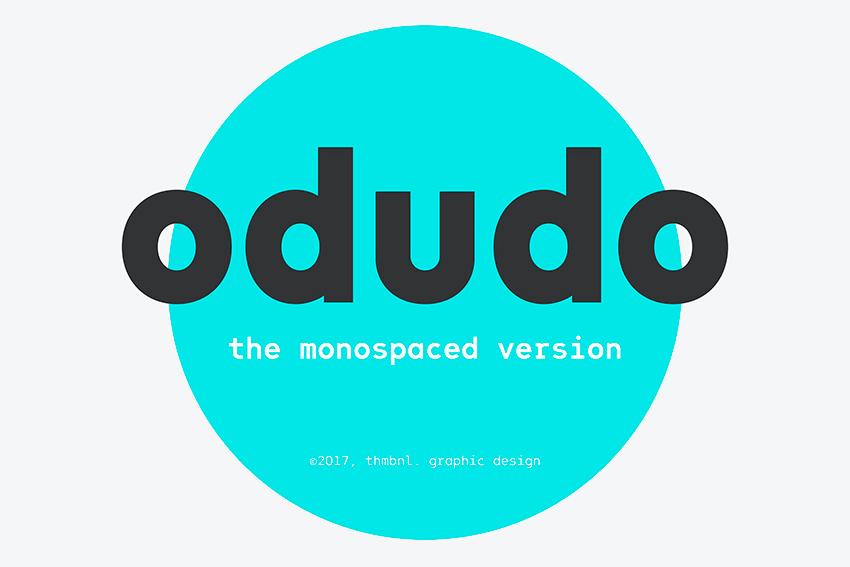 Odudo Mono - Sans-Serif Small Letter Font