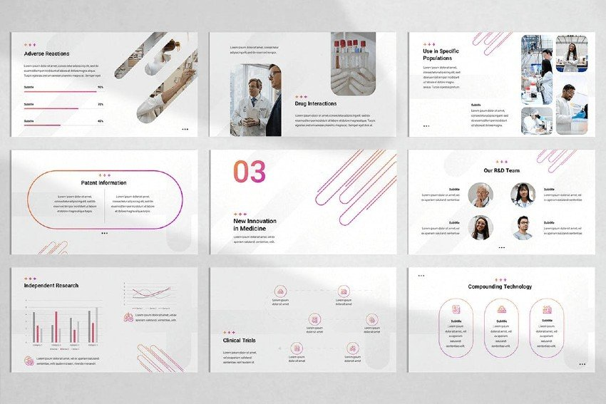 Pharmaceutical Research PowerPoint Template