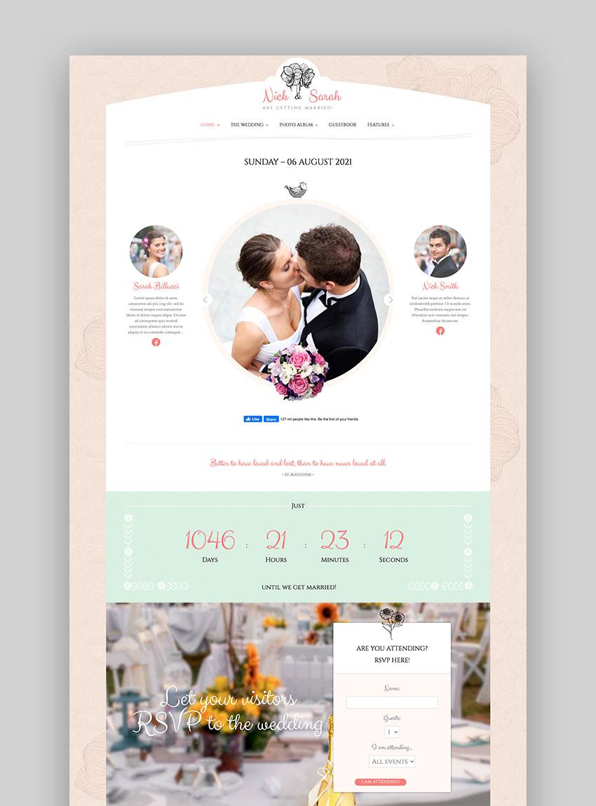 The Wedding Day WordPress Theme