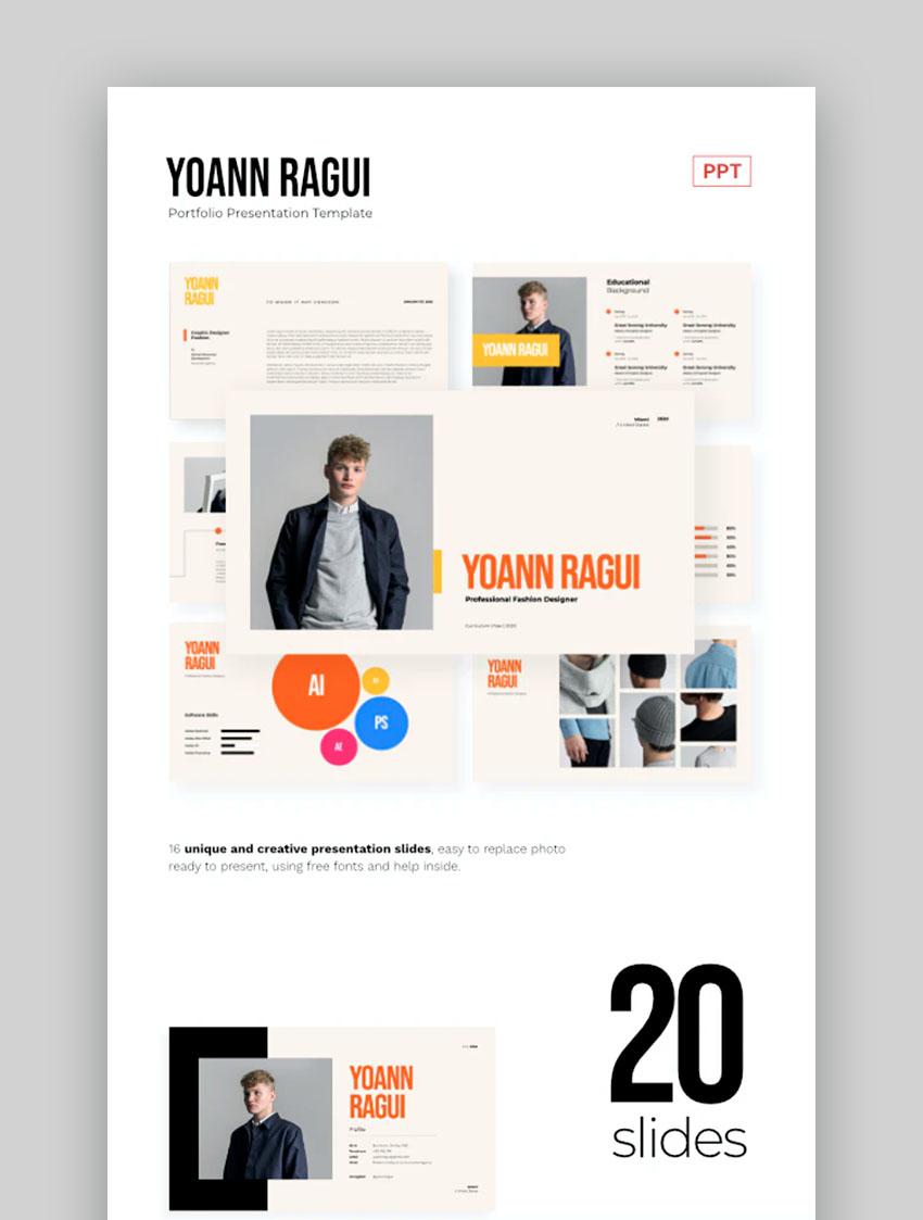 Modern Portfolio Brochure PPT Template