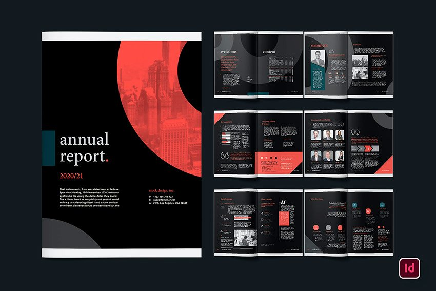 Annual report themes for nonprofit look great with this design trend.
