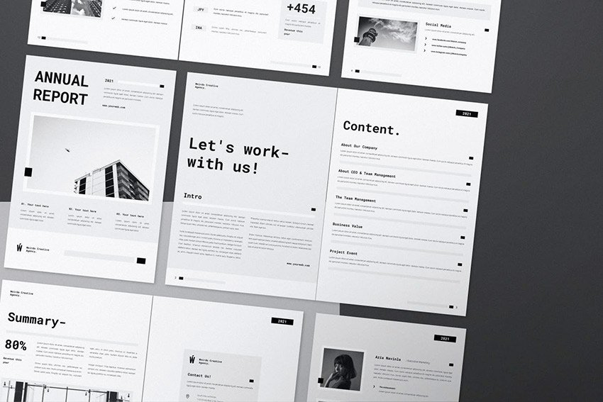 See how nice this non profit annual report looks in black and white.