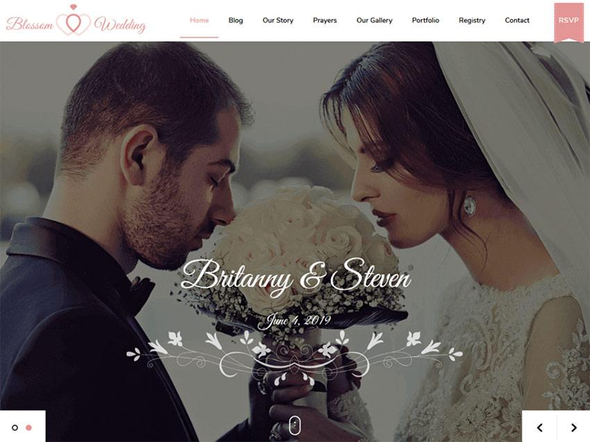 Blossom Wedding - WordPress Wedding Theme Free